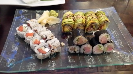 philly roll dragon roll yellowtail and scallion roll.jpg