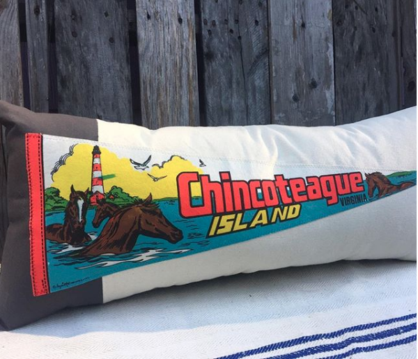Chincoteague Pillow PC: American Roadtrip