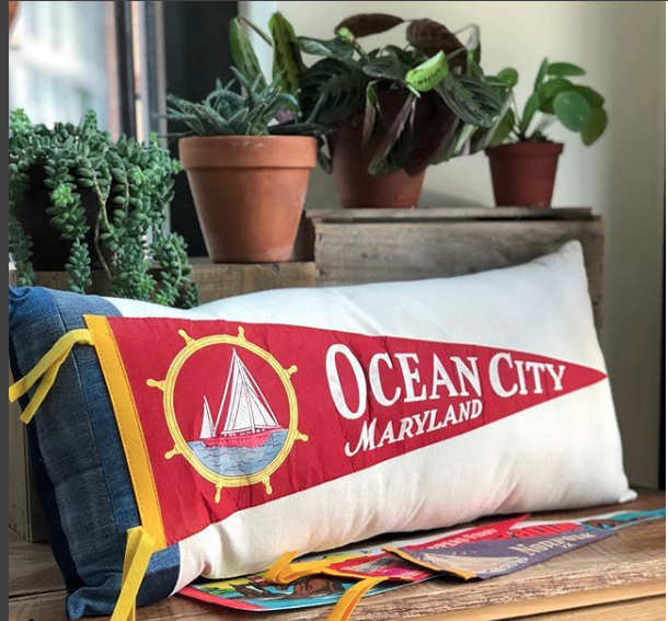 Ocean City pillow from American Roadtrip