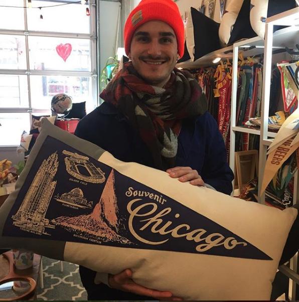 Chicago pillow American Roadtrip